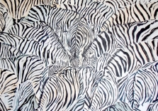 Sam Malpass - Wild Maze - 48x72in - acrylic on canvas